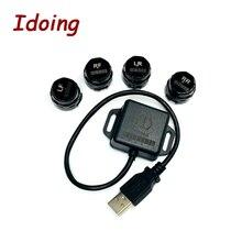 Idoo système de surveillance de pression des pneus, avec mini capteurs intérieurs, barre de support automatique et PSI