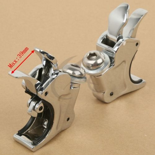39mm Quick Release Windscreen Clamps For Harley-Davidson Dyna Sportster Custom 49mm 2 chrome motorcycle windscreen clamps windshield bracket mounting case for harley davidson dyna sportster custom