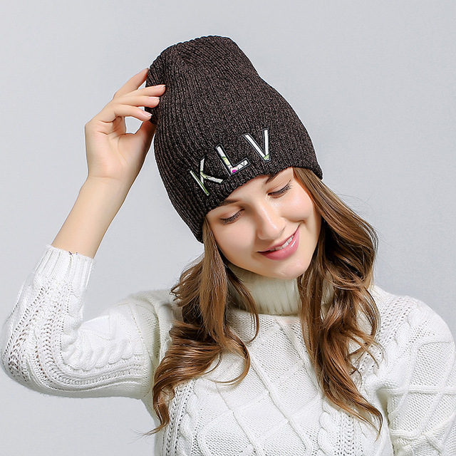 3f7378a4fe0 Zhaohui Unisex Spring Autumn Watch Cap Woman Wool Knit Beanie Cap Braided Skull  Hats for Women States Outdoor Knitting