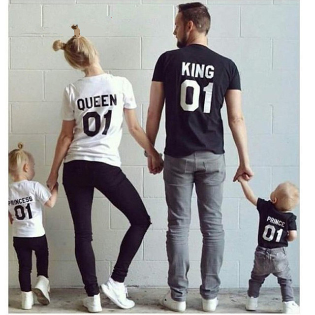 9b252405 2018 Summer Family Matching Outfits Clothes Mother Father Son Baby Girls  Boy Kid Dad Mother Shirt T-shirt Tops Family Look