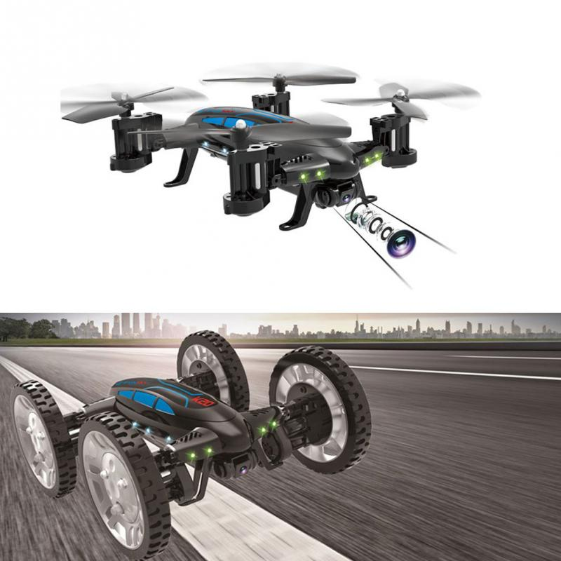 Newest land air speed dual mode K20 2.4GHz 4CH 6 Axis WIFI HD Camera RC Quadcopter Gyro Aircraft high speed car flying Car