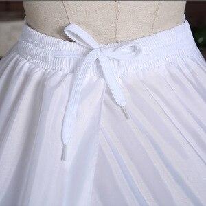 Image 5 - Dantel kenar 6 Hoop Petticoat jüpon topu cüppe şeklinde gelinlik 110cm çapı iç çamaşırı kabarık etek düğün aksesuarları