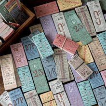 100 unids/set Retro boleto serie adhesivo Memo Pad notas adhesivas de la Oficina de la escuela suministros Bloc de notas etiqueta