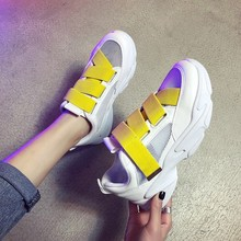 MARDEREE Women Wedges Shoes Woman Sneakers Mesh 2019 Med Heel Artificial Tenis Feminino Fashion Comfortable For Running