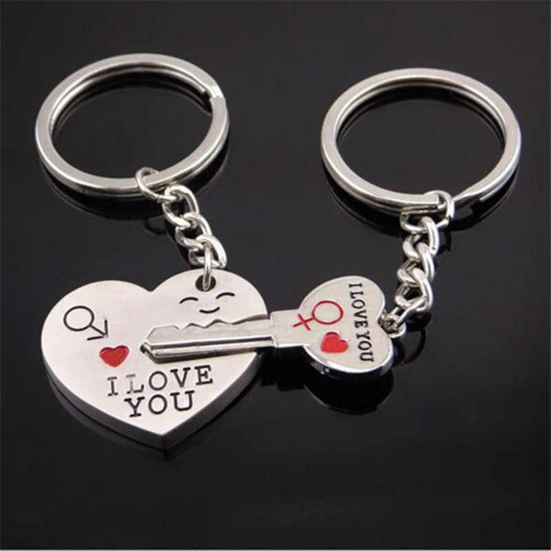 Креативный подарок Рождественский металлический брелок Стрелка & I подвеска в форме сердца & ключ пара ключей цепной брелок для влюбленных День святого Валентина