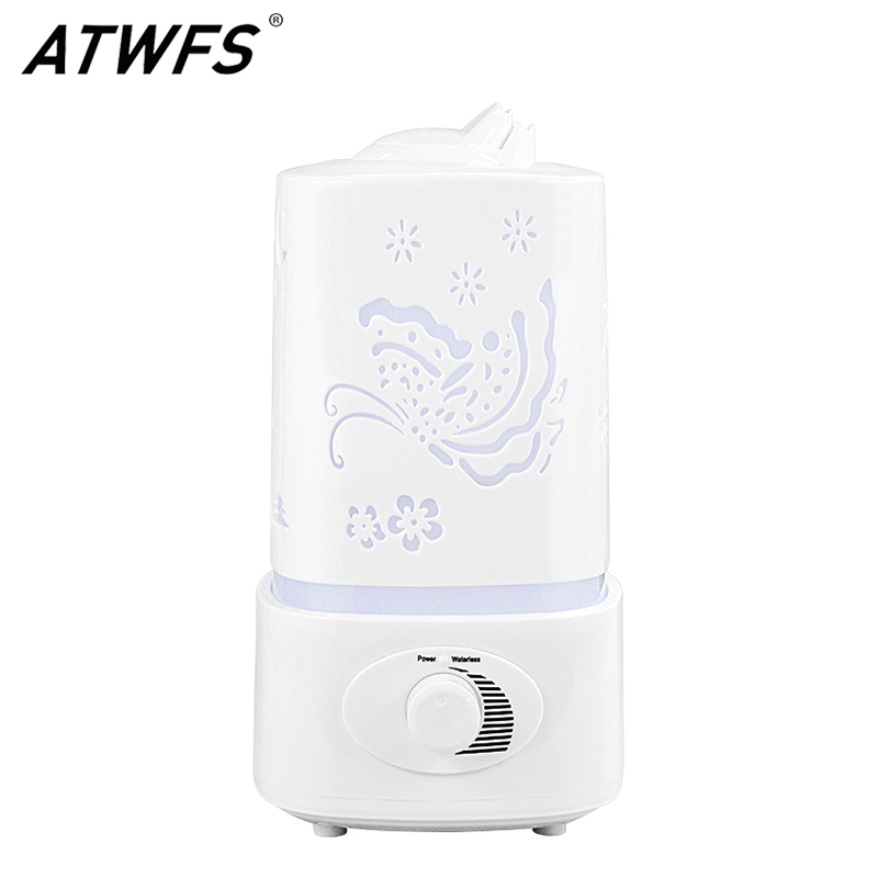 ATWFS Ultrasonic Air Humidifier Fogger LED Oil Aroma Diffuser Mist Maker Aromatherapy Diffuser Air Cleaner Nebulizer Vaporizer цена 2017