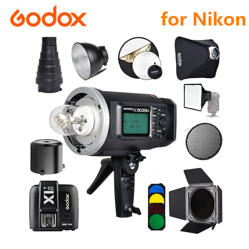 <font><b>Godox</b></font> <font><b>AD600BM</b></font> 600Ws GN87 Studio Flash Bowens Mount HSS 1/8000 Outdoor Flash Light Speedlite + X1T-N Wireless Trigger for Nikon image