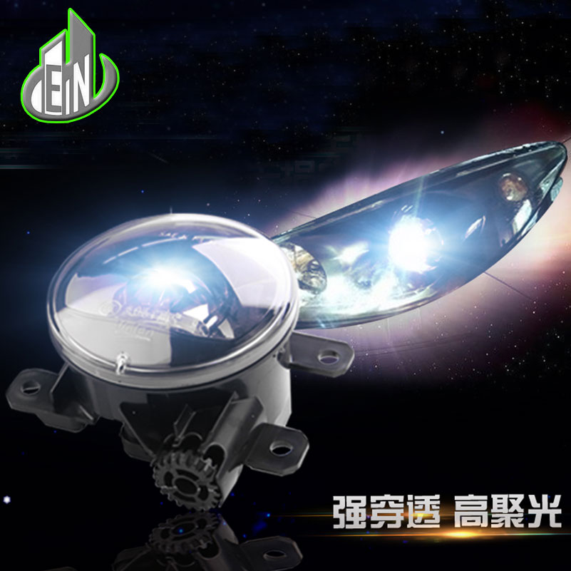Car Styling Original Fog Lamp for Ford Edge Tourneo Courier Grand-C-MAX LED Fog Light Auto FogLamp LED DRL for ford tourneo fusion fiesta c max focus grand tourneo australia 2001 2015 led fog lights angel eyes fog lamps 1set