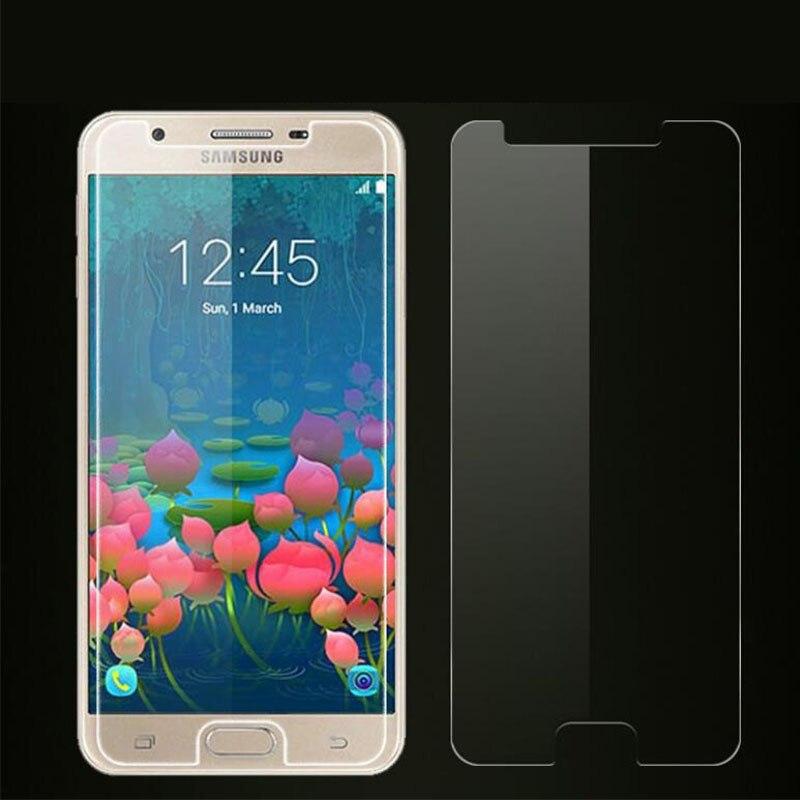 2 peças de vidro para samsung galaxy j7 prime protetor de tela de vidro temperado ultra-fino cola completa filme de telefone para samsung j7 prime