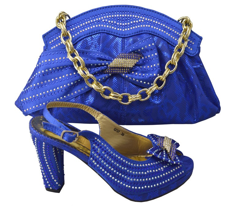 ФОТО High Quality Italian Matching Shoes And Bags Set Wholesale African Women Shoes And Bags For Party And Wedding GF37