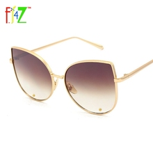 F.J4Z 2017 Fashion Hot Women Cat Eye Sunglasses Vintage Brand Designer Candy Color Goggle Shades for woman UV400
