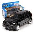 1:32 escala diecast metal de la aleación modelo de coche para jeep grand cherokee colección modelo tire volver juguetes de coches con el sonido y luz