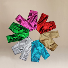 2016 New Baby Kids Girls Shiny Fashion Solid Skinny Leggings Pants Trousers 1-9Year Wholesale