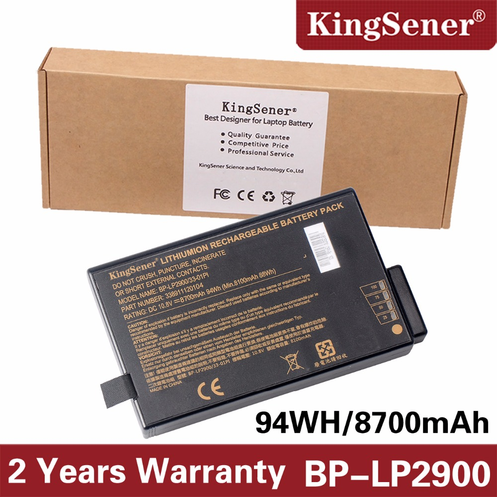 KingSener New Notebook Battery for Getac X500 V100 V1010 V200 BP-LP2900/33-01PI 338911120104 BP-LC2600/33-01S1 10.8V 8700mAh