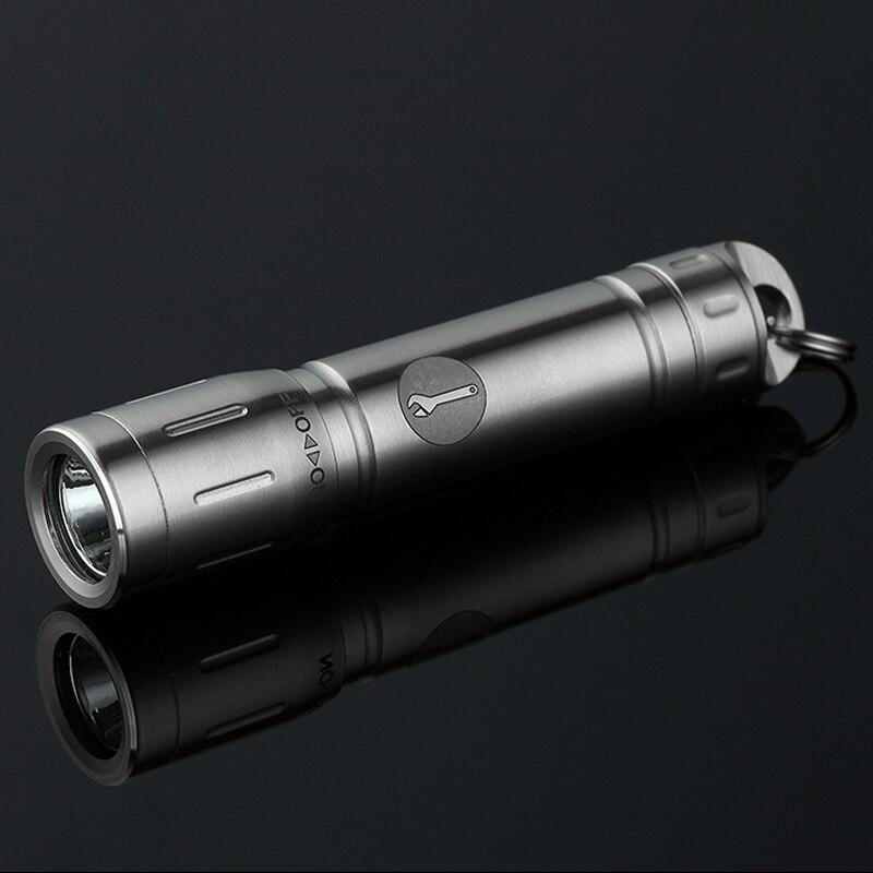 H1076, interruptor giratorio de alta calidad para exteriores, Luz Portátil brillante de acero inoxidable, mini linterna LED, colgante de llave EDC AAA Luz de trabajo con reflector LED con carga USB, foco recargable, batería 2*18650 o 4 * AA, luces de inundación al aire libre para Camping de emergencia