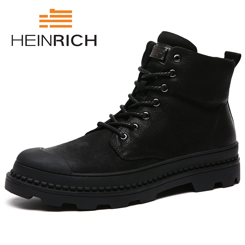 HEINRICH Spring/Autumn The New Listing Men Boots Top Quality Comfortable Brand Shoes Luxury Genuine Leather Snow Boots Stivali