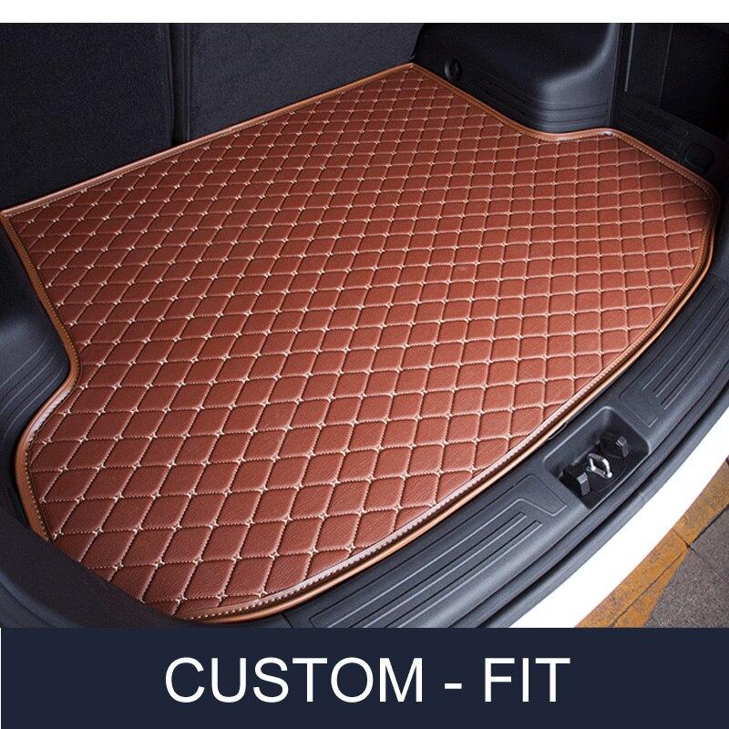Custom fit Car trunk mat for Jaguar F-PACE XJ XJL XF XE F-TYPE XK XFL XEL PU leather car-styling carpet коврики для автомобиля skawa xf xjl xk