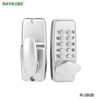 RAYKUBE цифровой дверной замок с паролем механический код без ключа дверной замок водонепроницаемый R-380B