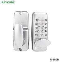 RAYKUBE цифровой кодовый дверной замок механический кодовый бесклавишный дверной замок водонепроницаемый R-380B