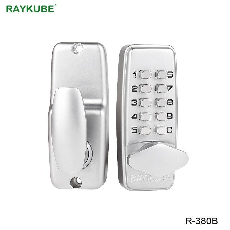 RAYKUBE цифровой пароль дверной замок механический код без ключа входной двери замок водостойкий R-380B