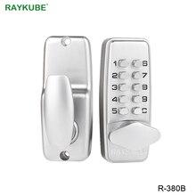 RAYKUBE דיגיטלי סיסמא דלת מנעול מכאני קוד Keyless כניסת דלת מנעול עמיד למים R 380B