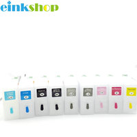 Einkshop 1Set Empty Refillable ink cartridge with auto reset chip for Epson 3800 printer; 9pcs/set