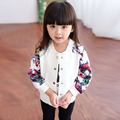 Toddler Girl Blazer Spring Veste Fille Enfants Floral Baby Girl Coat European Style Casaco Menina Autumn Girls Cardigan