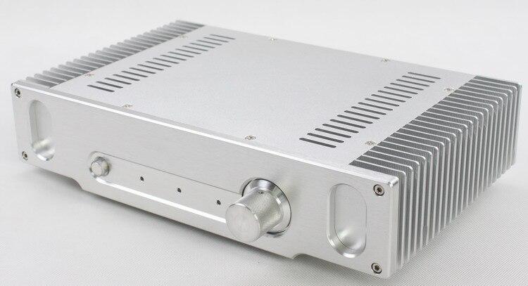 2107B Aluminum fillet Headphone amplifier case Preamp//DAC chassis AMP box Black