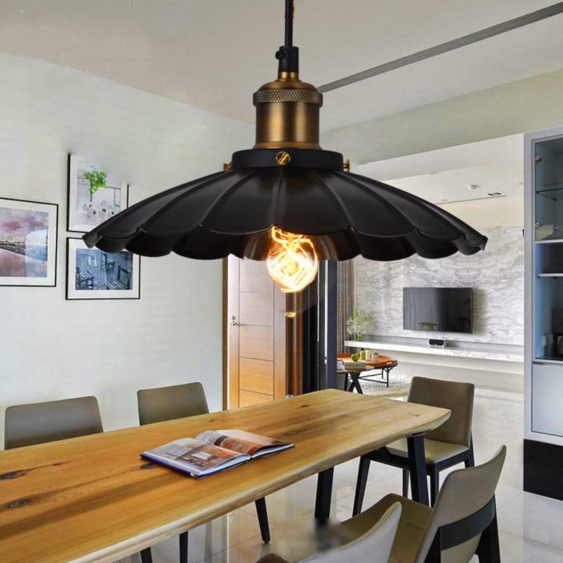 vintage creative wrought iron umbrella pendant lamp
