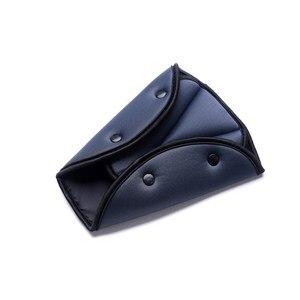 Image 4 - Triângulo de Segurança Do Carro Cinto De Segurança Cinto de segurança Ajustável Resistente Durável Clips Almofada de Proteção À Criança Do Bebê Car Styling Carro Interiores