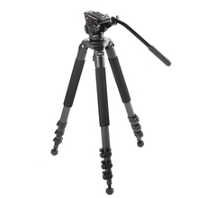 miliboo MTT702B Portable Carbon Fiber Tripod for Professional Camcorder/Video Camera/DSLR Tripod Stand,with Hydraulic Ball Head