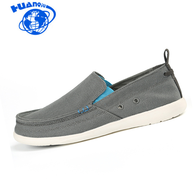 f49277f1f03a0 HUANQIU Canvas Mens Loafers Fashion Handmade Moccasins Soft Casual Slip On Croc  Men's Boat Shoes Size 39~46 flats ST253