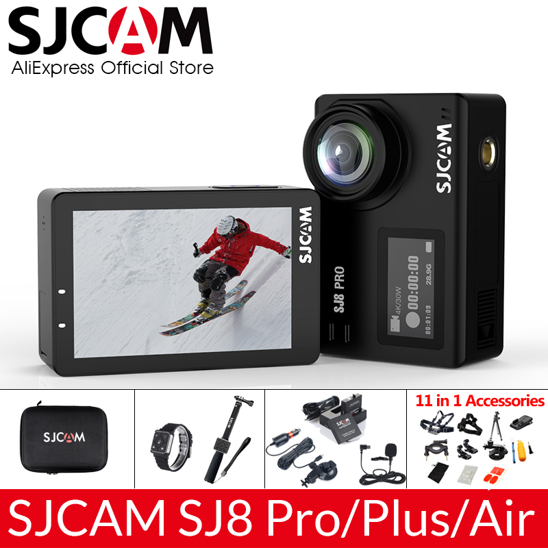 SJCAM SJ8 Pro/SJ8 Plus/SJ8 Air Action Camera 1296P 4K 30fps/60fps Sports DV Remote Control Helmet Camera Full Optional Package(China)