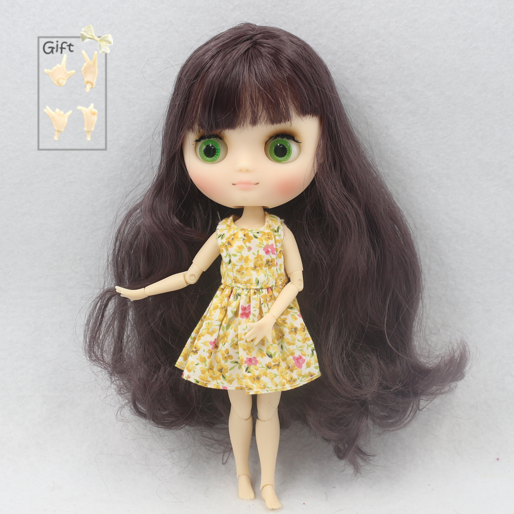 """8/"""" Neo Middie Blythe Doll  Nude Doll From Factory Orange Hair With Bang"""