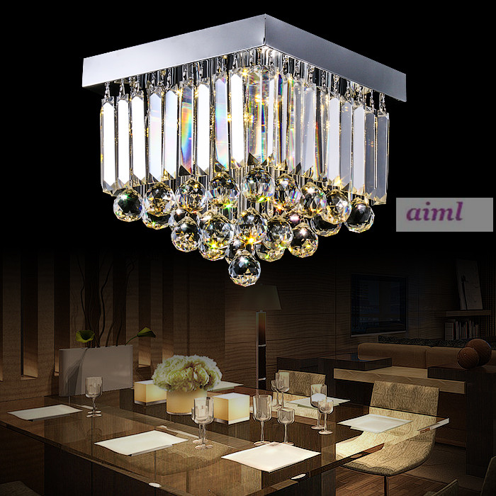 Modern Rectangle Round K9 crystal ceiling lamp LED lamp light crystal ceiling light lustre 3 change colors 90-260V ceiling lamp j best price modern fashion crystal lamp rectangle restaurant ceiling lamp sitting room partition lamps led ceiling light