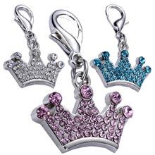 Бирка для домашних животных, милый сверлильный алмаз, Императорская корона, собаки, ярлыки в форме кота, ювелирные изделия для домашних животных, ожерелье, товары для животных, ошейник для домашних животных 3x2 см Z625