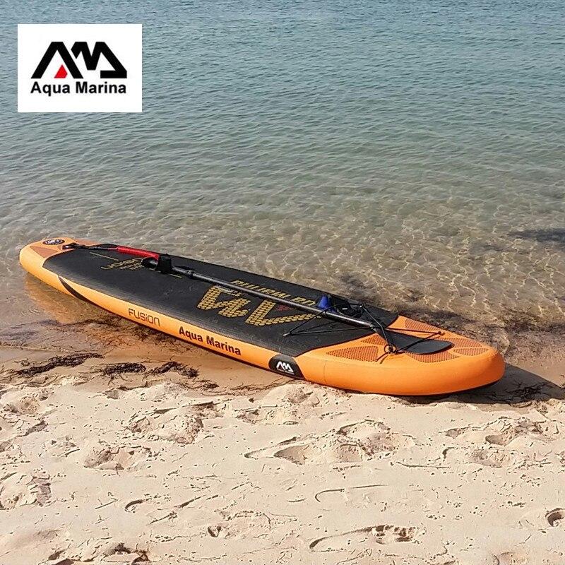 AQUA MARINA 330*75*15 cm gonflable planche de surf stand up paddle board D'EAU SPORT FUSION sup planche de surf conseil sac laisse paddle fin