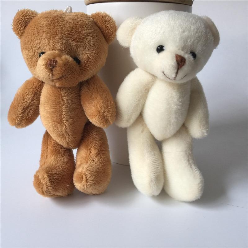 Plush Keychains Mini Kawaii Joint Bear Stuffed Plush Keychain Toys 13cm Cute Bears Pendant Dolls Gifts Birthday Wedding Party Decor