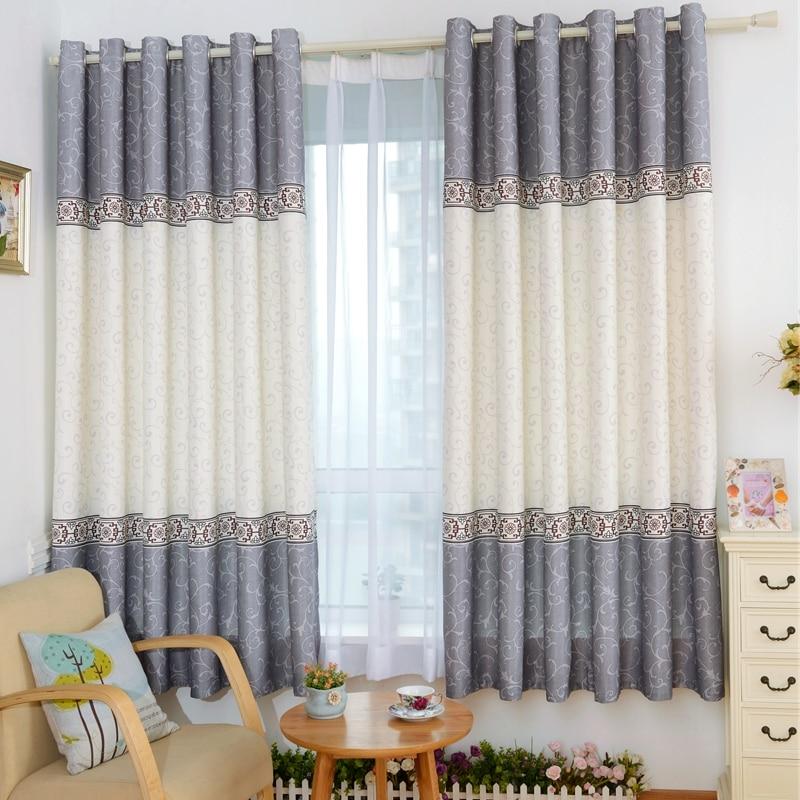 1piece Readymade Pastoral Curtains, #Lau YiLian Short Cortinas For Bay  Windows, Semi Blackout Curtains For Children Bedroom  Short Blackout Curtains