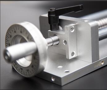Volant avec serrure pour Table coulissante manuelle glissière transversale SFU1605 course L100mm roue à billes et mécanisme de verrouillage