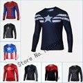 Manga longa t Shirt Da Forma Camisa Roupas masculinas Camisa homem aranha Vingadores Heróis Batman Homem De Ferro Capitão América