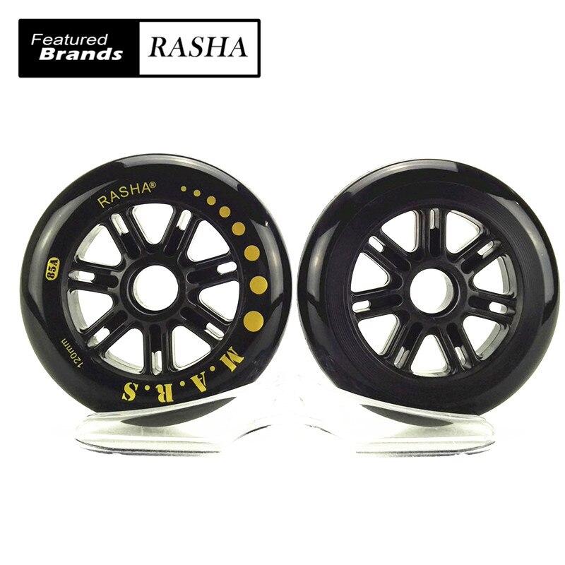 Prix pour Rasha vitesse de patinage roues 120mm dureté 85a 120 roues principalement 172g haute qualité pour racing scooter skate roues