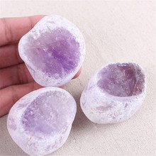 1pc Irregular seer stone raw mineral stones ore polishing crystal Amethyst Natural bare material