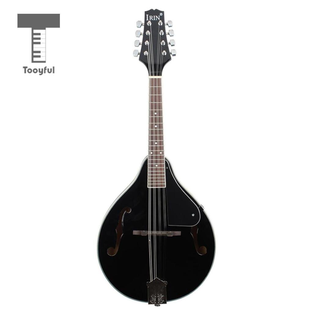 Noir A Style 8 cordes mandoline + Gig Bag + mandoline String Set pour débutant cadeau