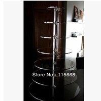 ร้อนช้อปปิ้งฟรีขาย/จัดส่งฟรีล้าง7ชั้นที่รอบคริลิคยืนเค้ก,ลูกแก้วแสดงคัพ