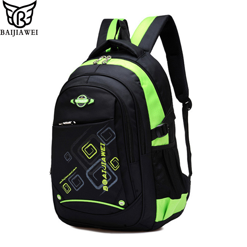 BAIJIAWEI Children School Bags Children Waterproof Backpack In Primary School Backpacks For Girls Boys Mochila Infantil Zip цена и фото