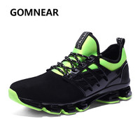 2017 Men S Running Sports Sneakers Breathable Leather Blade Shoes Jogging Outdoor Travelling Walking Shoes Brand