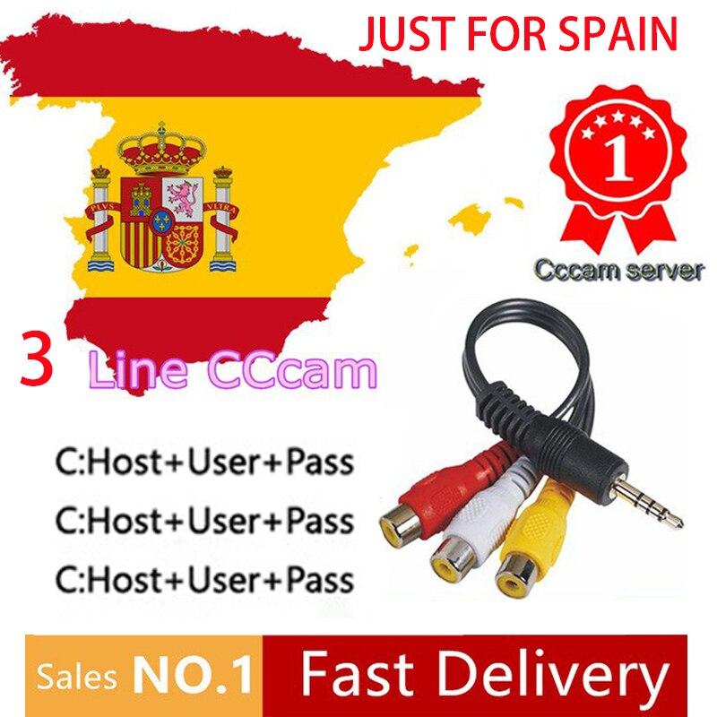 Fast And Stable HD 1 Year Europe Spain Cccam 3 Clines For DVB-S2 v7 Satellite TV Receiver V8 SUPER V9 SUPERFast And Stable HD 1 Year Europe Spain Cccam 3 Clines For DVB-S2 v7 Satellite TV Receiver V8 SUPER V9 SUPER