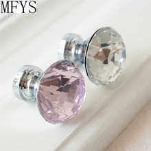 1.2 Glass Crystal Knobs / Dresser Drawer Pulls Handles Cabinet Furniture Handle Pull Bling Hardware Silver Clear