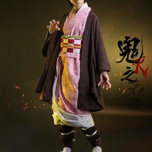 Image 5 - Anime! demon slayer: kimetsu não yaiba kamado tanjirou agatsuma zenitsu tomioka giyuu kamado nezuko quimono uniformes cosplay traje